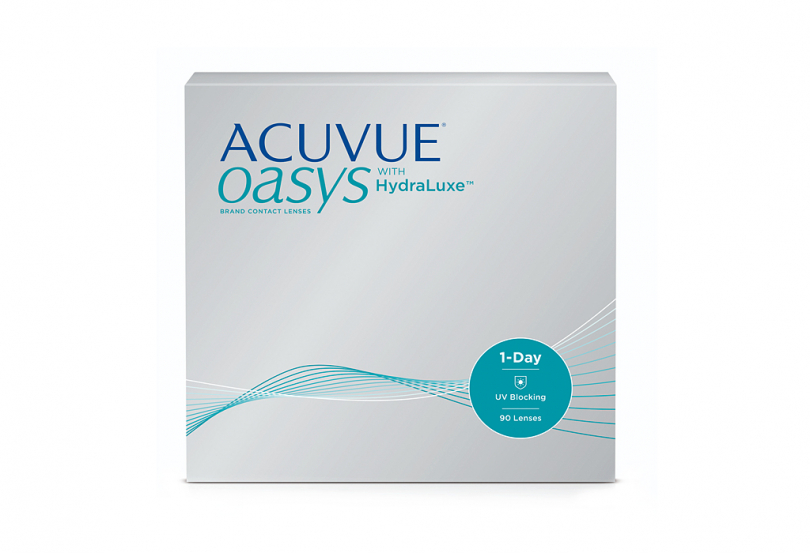 ACUVUE OASYS 1 Day with HydraLuxe (90 шт.) Smart Vision